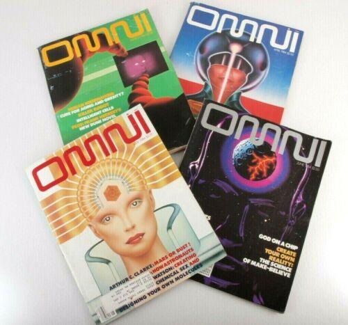 Vtg. Omni Magazine 1984 Lot of 4  March April May June Science Sci Fi Fantasy