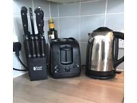 Russell Hobbs kettle and toaster. Together or separate. Price is for pair