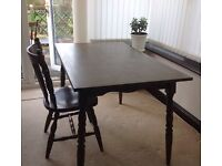 Dark oak table and chairs - John Lewis
