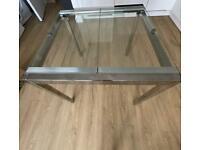 Chrome Plated Glass Table