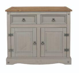 Grey and pine 2 door sideboard