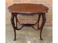 Edwardian mahogany occasion/side/hall table c1901-1910