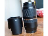 Tamron A005 Di SP 70-300mm f4-5.6 USD VC with Tamron HA005 Hood For Canon EF Mount