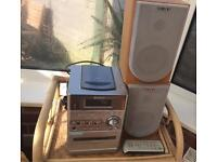 Sony speakers and CD/Radio/Cassette player with remote control