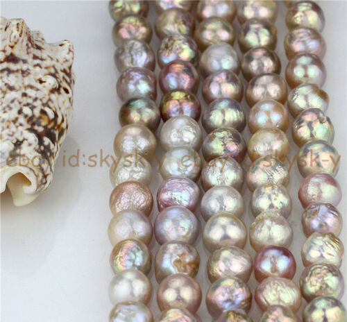 Natural Rare AAA 14-16mm Huge Multicolor Baroque Pearl Loose Beads 15