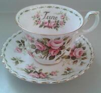 "Royal Albert Flowers of The Month ""June"" Cup & Saucer"