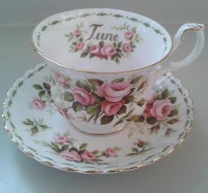 """Royal Albert Flowers of The Month """"June"""" Cup & Saucer"""