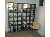 PAIR pigeon-holes bookcases display FREE DELIVERY B&H decorative salvage hunters England Brighton