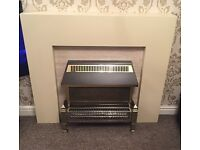 Cream wentworth electric fireplace