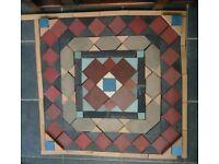 Minton Tiled Floor for porch