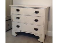 Early 20th century Vintage Shabby Chic White Chest of Drawers