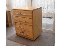 4 Drawer bedside table
