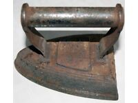 Antique Flat Clothes Iron (Salter) No.6
