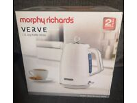 Kettle Morphy Richards White Brand New. CAN POST