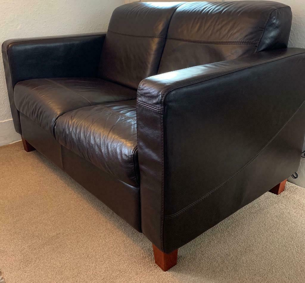 Swell Two Seater Italian Full Grain Leather Sofa In Newlyn Cornwall Gumtree Pdpeps Interior Chair Design Pdpepsorg
