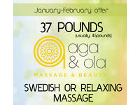 FEBRUARY OFFER with Aga&Ola £37 instead of £45 for 1h