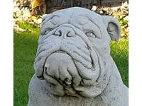 British bulldog in cast stone