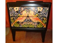 Up Cycled Chest Of Drawers With Decoupage Panels And Drawers.