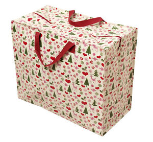 dotcomgiftshop JUMBO BAG RETRO CHRISTMAS. REUSABLE STORAGE BAG