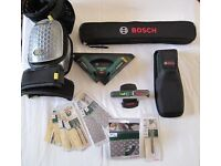 BOSCH TOOLS & ACCESSORIES - Angle Measure, Wall Scanner, Spirit & Tile Laser levels Most new/Unused