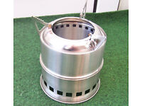 Portable Stainless Steel Wood Stove. Camping Stove