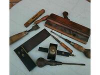 Vintage wood working tools