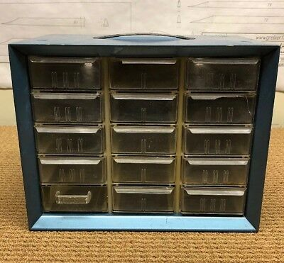 Vintage Akro-mils 15 Drawer Metal Storage Cabinet