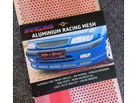 RGM Car Grille Air Intake Vent Mesh Silver Aluminium