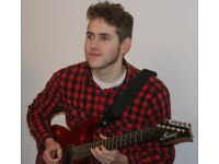 Guitar/Bass/Drum Lessons with friendly experienced tutor