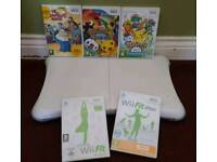 Wii fit board with Wii fit and Wii fit plus