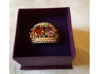 FABULOUS large Statement dress ring crystal - BRAND NEW BOXED
