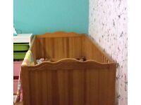Mamas and Papas solid wood, brown cot bed