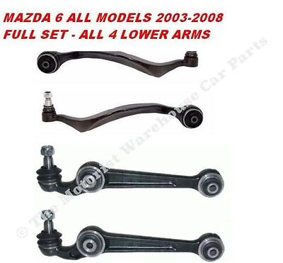 MAZDA 6 2002-07 FRONT 4 LOWER TRACK CONTROL SUSPENSION WISHBONE ARM FRONT REAR
