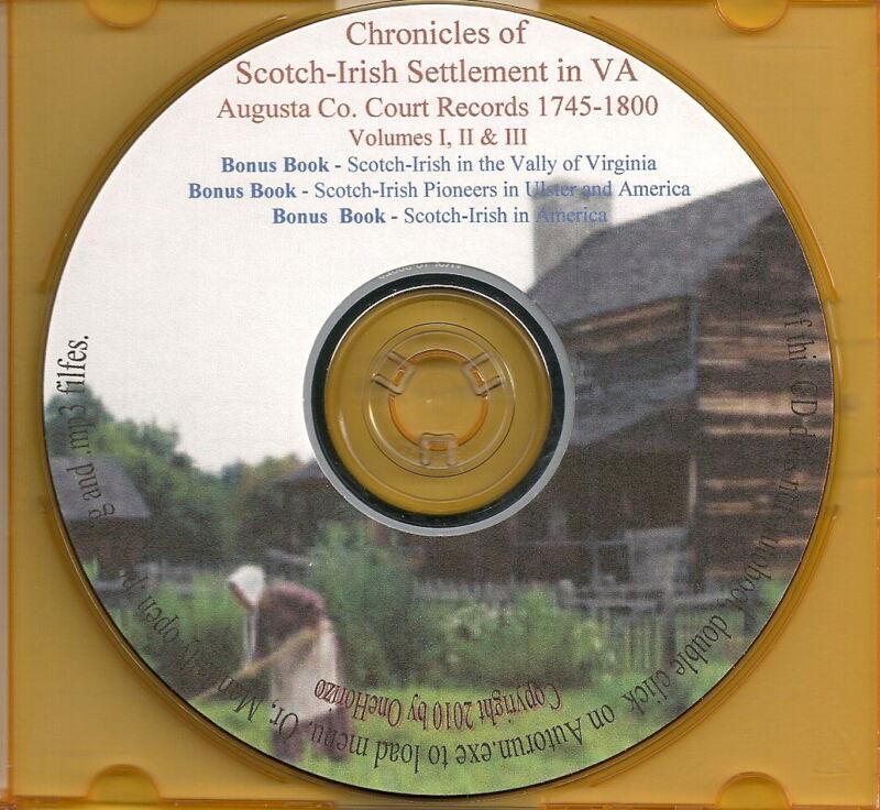 Chronicles of the Scotch-Irish Settlement In Virginia