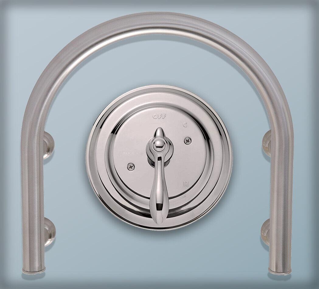 Stainless Steel U-Shaped Tub Shower Grab Bar Bathtub Bath Safety Accessory Handles & Rails