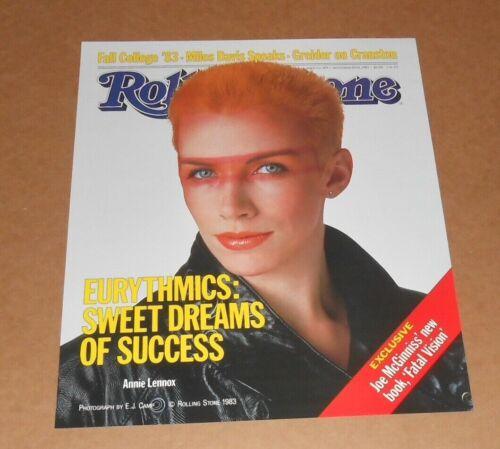 Eurythmics Sweet Dreams Rolling Stone Magazine 1983 Poster 16x20 Annie Lenox
