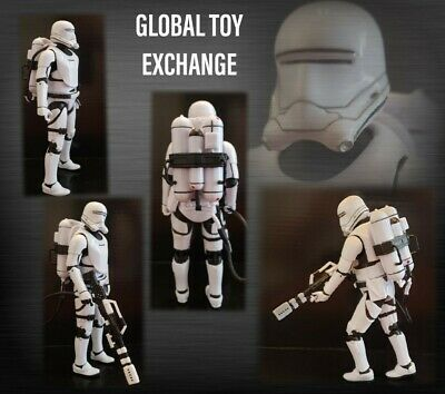 STAR WARS BLACK SERIES 6 INCH FIRST ORDER FLAME TROOPER FIGURE 100% COMPLETE