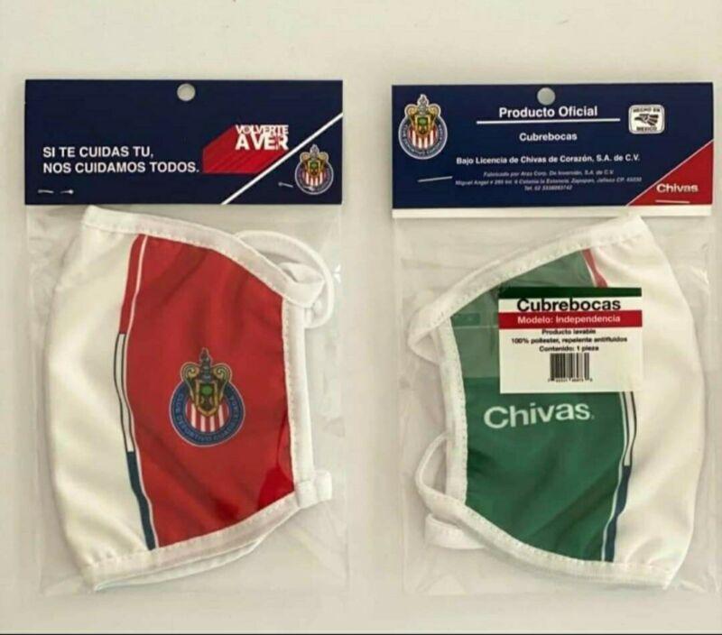 Cubre bocas CHIVAS Original!! Version Independencia lavable