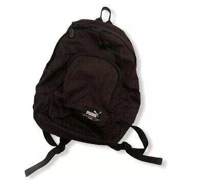 Puma Phase Small Logo Sports School Backpack Rucksack Bag Dark Brown
