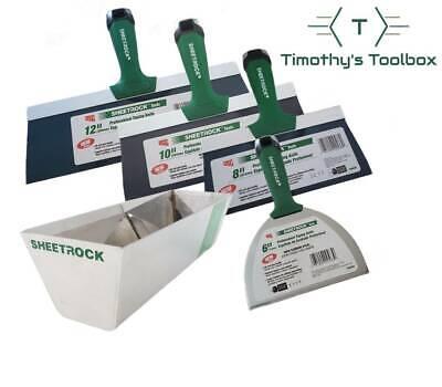 Usg Sheetrock Pro Series Taping Knife Set 6-8-10-12 12 Usg Sheetrock Mud Pan