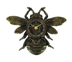 Steampunk Style Bronze Finish Honeybee Wall Clock