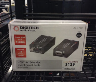 Digitech ac-1740 hdmi av extender over coaxial cable dv107443