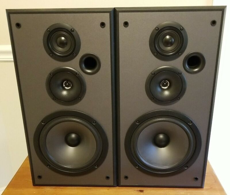 Vintage Pioneer 3 Way Stereo Speakers S-H252B-K 160W Sound Great Free Shipping