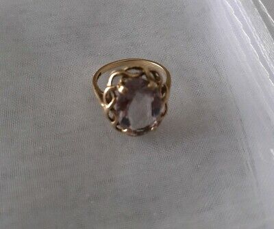 Amethyst 9ct Gold Vintage Ring size N