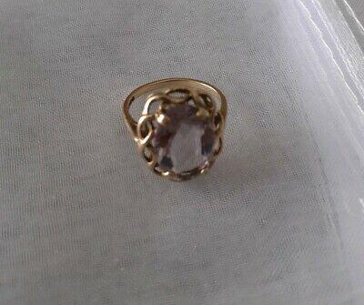 Amethyst 9ct Gold Vintage Ring size N
