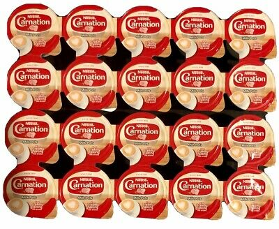 20 Milk Pots Nestle Carnation Milk Pots For Creamy Tasting Hot Drinks Ready To U