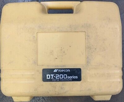 Topcon Dt-209 Optical Digital Theodolite With Carrying Case See Pictures