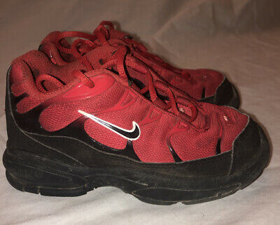 Nike Air Jordan Retro Basketball Shoes- Red And Black Kids Children Boy Size 9C