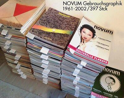 Sammlung Magazin NOVUM Gebrauchsgrafik, 397 Hefte aus den Jahren 1961 bis 2002