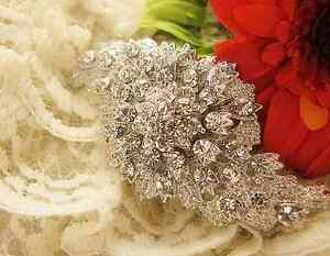 Crystal Rhinestone Bridal Bride Wedding Dress Sash Cake Rhombus Brooch Pin